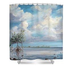 Walking Tree Shower Curtain by AnnaJo Vahle