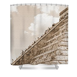 Walking Up The Pyramid Shower Curtain by Kirt Tisdale