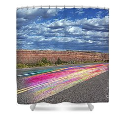Walking With God Shower Curtain by Margie Chapman
