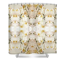 Wall Of Orchids II Panorama Shower Curtain
