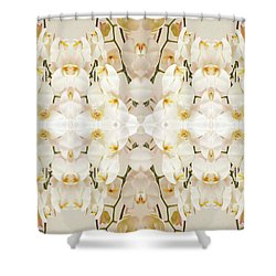 Wall Of Orchids II Shower Curtain