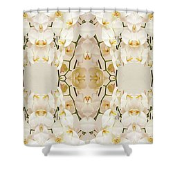 Wall Of Orchids Panorama Shower Curtain