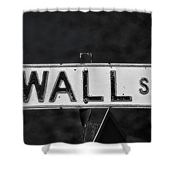 Wall Street Shower Curtain by Karol Livote