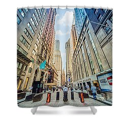 Wall Street Shower Curtain by Ray Warren