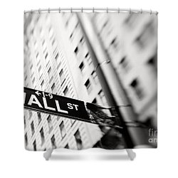 Wall Street Street Sign Shower Curtain
