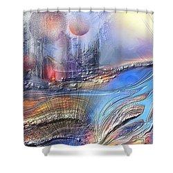 Wallalah  Shower Curtain by Francoise Dugourd-Caput
