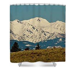 Wallowa Mountains Oregon Shower Curtain by Ed  Riche