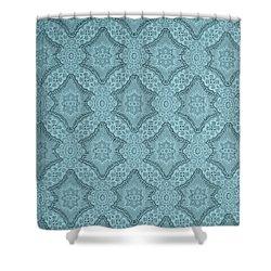 Shower Curtain featuring the photograph Wallpaper Blues by Liz  Alderdice