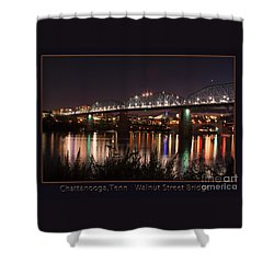 Shower Curtain featuring the photograph Walnut At Night by Geraldine DeBoer
