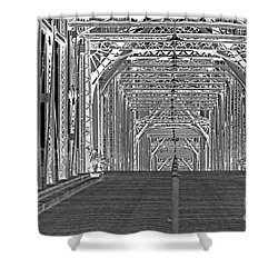 Shower Curtain featuring the photograph Walnut Black And White by Geraldine DeBoer