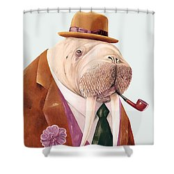 Walrus Shower Curtain by Animal Crew