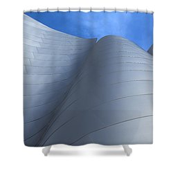 Walt Disney Concert Hall Architecture Los Angeles California Abstract Shower Curtain