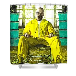 Walter White As Heisenberg Painting Shower Curtain