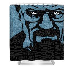 Walter White Heisenberg Breaking Bad Shower Curtain by Tony Rubino