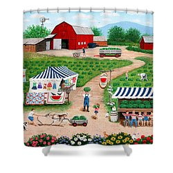 Walter's Watermelons Shower Curtain