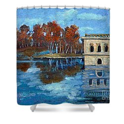 Waltham Reservoir Shower Curtain