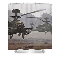 Waltz Of The Hunters Shower Curtain by Dieter Carlton