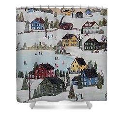 Waltzing Snow Shower Curtain