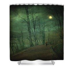 Wanderer Shower Curtain by Taylan Apukovska
