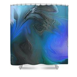 Wandering The Rift Shower Curtain by Aliceann Carlton