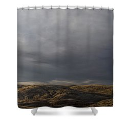 Waning Light On The Hills Of South Dakota Shower Curtain