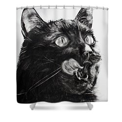 Wanting Shower Curtain by Valerie  Bruzzi