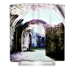 War At Fort Pickens Shower Curtain by Faith Williams