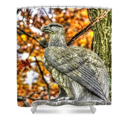 War Eagles - 28th Massachusetts Volunteer Infantry Rose Woods The Wheatfield Fall-a Gettysburg Shower Curtain by Michael Mazaika