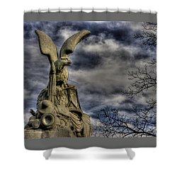 War Eagles - 88th Pa Volunteer Infantry Cameron Light Guard-b1 Oak Hill Autumn Gettysburg Shower Curtain by Michael Mazaika
