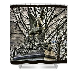 War Eagles - 88th Pa Volunteer Infantry Cameron Light Guard-d1 Oak Hill Autumn Gettysburg Shower Curtain by Michael Mazaika