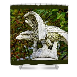Shower Curtain featuring the photograph War Eagles - Vermont Company F 1st U. S. Sharpshooters Pitzer Woods Gettysburg by Michael Mazaika