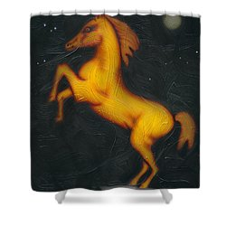 War Horse. Shower Curtain