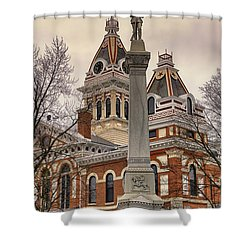 War Memorial Pontiac Il Shower Curtain by Thomas Woolworth
