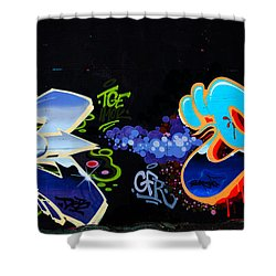 War Of The Wall Shower Curtain by Karol Livote