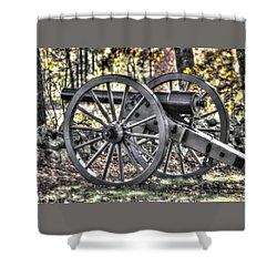 Shower Curtain featuring the photograph War Thunder - The Albemarle Va Artillery Wyatt's Battery-b1 West Confederate Ave Gettysburg by Michael Mazaika