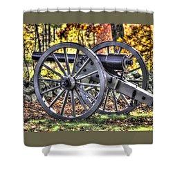 Shower Curtain featuring the photograph War Thunder - The Albemarle Va Artillery Wyatt's Battery-b2 West Confederate Ave Gettysburg by Michael Mazaika