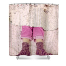 Warm And Cozy Shower Curtain by Joana Kruse