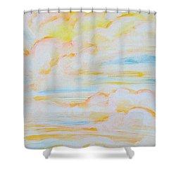 Warm Clouds Shower Curtain