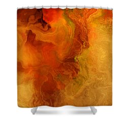 Warm Embrace - Abstract Art Shower Curtain by Jaison Cianelli