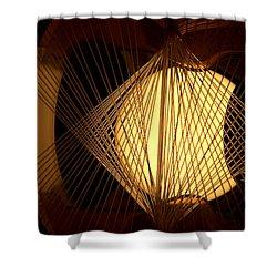Warm Fusion Shower Curtain by Newel Hunter