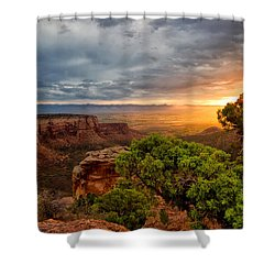 Warm Glow On The Monument Shower Curtain