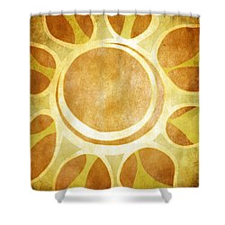 Shower Curtain featuring the drawing Warm Sunny Flower by Lenny Carter