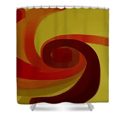 Warm Swirl Shower Curtain by Ben and Raisa Gertsberg