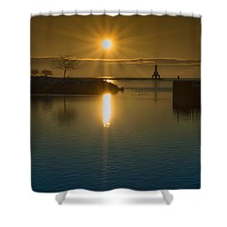 Warming Sun Shower Curtain