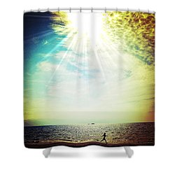 Warmth Shower Curtain by Natasha Marco