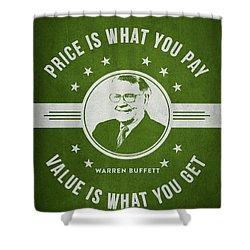 Warren Buffet - Green Shower Curtain