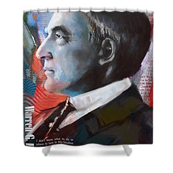 Warren G. Harding Shower Curtain by Corporate Art Task Force