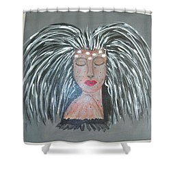 Shower Curtain featuring the painting Warrior Woman #2 by Sharyn Winters