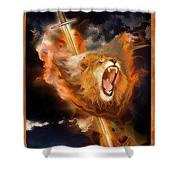 Warrior's Heart Shower Curtain