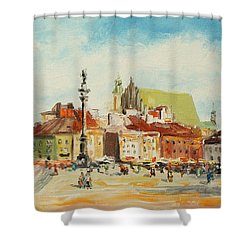 Warsaw- Castle Square Shower Curtain